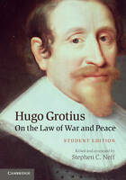 Hugo Grotius On the Law of War and Peace: Student Edition, , Very Good condition