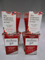 4 class jars Glade Fragrance Collection Soy Based Candle Currants & Acai NEW