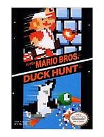 SUPER MARIO BROS AND DUCK HUNT NES NINTENDO GAME COSMETIC WEAR