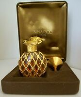 RARE Vintage L'Air du Temps Perfume~Bottle+Funnel+Case~1/4 fl oz~COLLECTIBLE