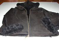 Jacke Mantel schwarz innen mit Fell  Gr. 38