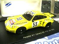 PORSCHE 911 Carrera RS Le Mans 1976 #53 Sabine Andruet C Laure Spark Resin 1:43
