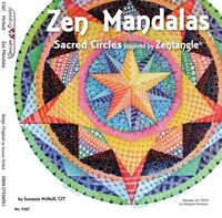 ZEN MANDALAS-Zentangle-Altered Art-Line Drawing Paper Craft Idea Book-Tangles
