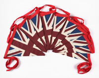Vintage British Union Jack Textile Flag Cloth Fabric Bunting Retro Banner 100M