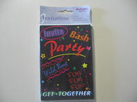 8 Party invitations, w/envelopes, made by Gallant, Brand New and Sealed