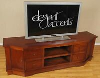 6'Solid Mahogany TV Stand / Console for Flat Panel DLP, LCD or Plasma