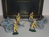 BRITAINS 8915 WW1 FOREIGN SERVICE 4.5 HOWITZER GUN LIMBER CREW TOY SOLDIER SET