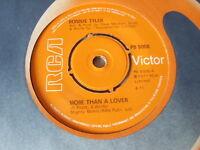 "BONNIE TYLER 7"" vinyl record MORE THAN A LOVER"