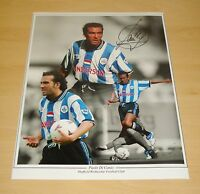 PAOLO DI CANIO GENUINE HAND SIGNED 12x16 PHOTO MONTAGE SHEFFIELD WEDNESDAY + COA