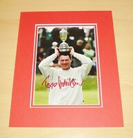 TODD HAMILTON HAND SIGNED 10x8 AUTOGRAPH PHOTO MOUNT DISPLAY THE OPEN 2004 + COA