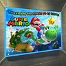 "Super Mario Bros. Large Matt Vinyl Birthday Party Banner 30"" x 24"" [2.5' x 2']"