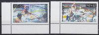 Germany Berlin 1990 Mi 864-865 ** MNH Sporthilfe beliebte Sportarten ECKE 3