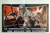 WHEN HEROES DIE 1970 Belgian Poster CRAIG HILL Matar al Comandante en Jefe