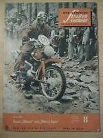 Der Deutsche Straßenverkehr 8/1959 ** Moto Cross Skoda Oktavia Triumph Herald