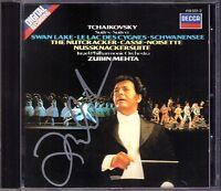 Zubin MEHTA Signiert TCHAIKOVSKY Swan Lake Nutcracker DECCA CD Nussknacker 1983