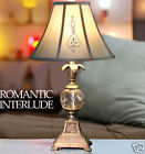 European Rural Style Silver Polymer + Glass D 33CM * H 61CM Bedside Table Lamp
