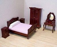 Dollhouse Furniture * 5 pc. BEDROOM SET  # 2583 ~scale1:12 ~Melissa & Doug