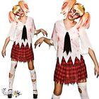 Mujer Adulto Halloween Colegiala Zombie estudiante gore horror disfraz
