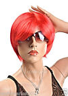 W3233 Lovely Style Kanekalon Wine Red Color Short Straight Hair Party Women Wig