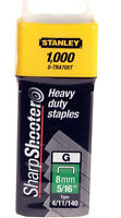 """8mm (5/16"""") STANLEY HEAVY DUTY STAPLES 0-TRA705T (TYPE 4/11/140) - Pack of 1000"""