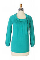 NIP Anthropologie ONE SEPTEMBER Wickerwork Tee Top Teal Green T Shirt M SOLD OUT