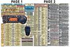 YAESU FT-857D FT-857 AMATEUR HAM RADIO DATACHART GRAPHIC INFORMATION (INDEXED)