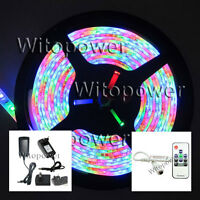 3528 RGB LED Strip 5M 300 Light Waterproof + Mini RF Controller +12V 2A Power