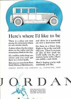 1925 Original JORDAN Great Line Eight 2-Color Big Page CAR AD.  NED JORDAN Prose