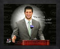 Tim Tebow New York Jets 8x10 Black Wood Framed ProQuotes Photo Combined Shipping