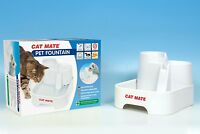 Cat Mate Pet Water Fountain Drinking Bowl Cats Dogs CatMate
