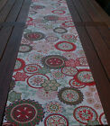 TABLE RUNNER 180CM LONG - - 'WILDFLOWER RED'