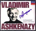 Vladimir ASHKENAZY Signiert RACHMANINOV Piano Concerto 1 2 3 4 Andre PREVIN 2CD