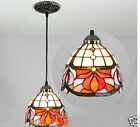 8 Inches Mediterranean Style Simple Glass Droplight H 115 CM 1 Light Chandelier
