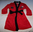 Essendon Bombers AFL Boys Red Black Dressing Gown Size 4 New