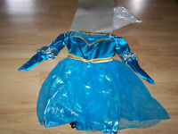 Size 4-6X Disney Princess Brave Merida Deluxe Costume Dress Up Hallween New Tags