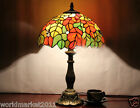 European Style Beautiful Rose Glass+Resin Height 49CM Decoration Table Lamp
