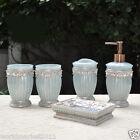 European Rome Cassina Resin Blue Home Bathroom Wash Supplies Five Set