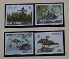 WWF Bahamas Mi 672-675 MNH Silbar el ganso Pájaro+Material de información Alemán