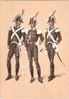 CARTOLINA MILITARE UFFICIALE E CARABINIERI IN GRANDE UNIFORME, 1818 - ALTEROCCA