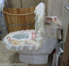 Lovely Practical S 45*36 CM Cotton Peony Pattern Three-Piece Toilet Cover