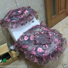 Lovely Style Practical Purple S 45*36 CM Cotton Three-Piece Toilet Cover