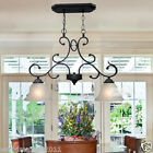 European Contracted Rural Style Black D60CM H40CM 2 Lights Iron/Glass Droplight