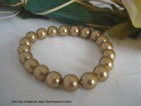 Armband in Tahiti-Gold 20cm aus Muschelkernperlen 8mm TOP Qualität, Geschenk