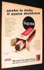 ADVERTISING PUBBLICITA' 1956 DENTIFRICIO SQUIBB - CM. 33 X 25