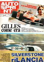 AUTOSPRINT N. 20 1982 - RICORDIAMO GILLES VILLENEUVE, LE ULTIME 48 ORE DI GILLES