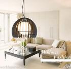 Modern Simple Iron+Glass Black Diameter 26.5cm Parlor Bedroom 1 Lamp Chandelier