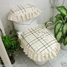 Lovely Style Practical Cream-Colored S 45*44 CM Fabric Three-Piece Toilet Cover