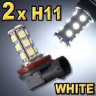 2 AMPOULE H11 A 18 PASTILLE LED A TRIPLE FLUX = 54LED - BLANC XENON - 3D