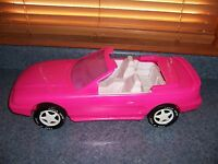 Barbie Or Monster High Doll Size Pink Car Ford Mustang GT American Plastic Toys