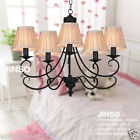 European Contracted Rural Style Black D66CM H52CM 5 Lights Iron/Glass Droplight